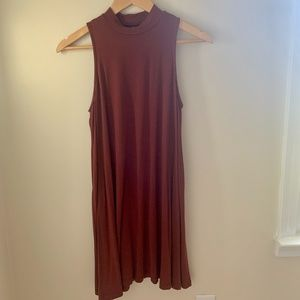 Urban Outfitters Sleeveless Burgundy Dress